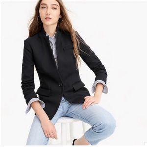 J. Crew Regent Black Blazer in Wool Flannel